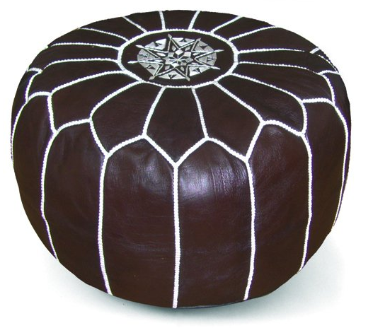 poofs to sit on Moroccan leather pouffe Ikram design 2