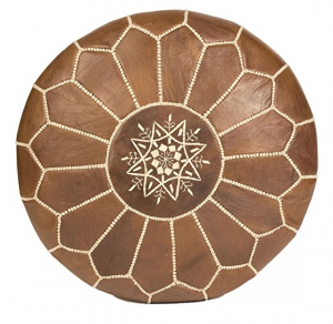 Moroccan Leather Pouffe Moroccan Buzz