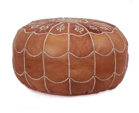 poofs to sit on Moroccan Leather Pouffe Ikram Design