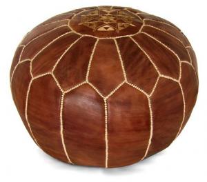 Moroccan Leather Pouffe – Handmade Ottoman – Best poufs
