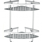 nailless wall shelves Fencher Two Tier Bathroom Shelf