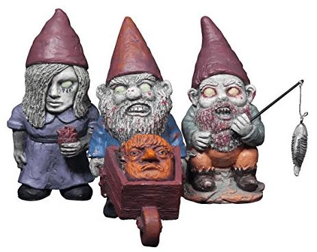 funny lawn gnomes zombie garden gnomes 1