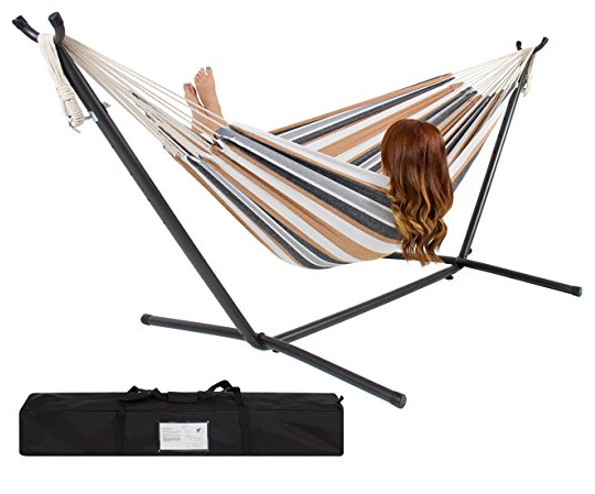 hammock and stand sets Portable Hammock Stand with Space Saving Steel Stand