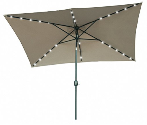 rectangular patio umbrella with solar lights Rectangular Outdoor Umbrella