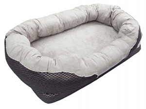 Orthopedic Dog Bed with Bolster large