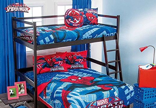 Spiderman Bunk Beds and Other Spiderman Room Decor - Sevenhints