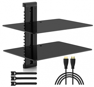 Floating shelves for TV equipment Double Floating Shelves for TV Accessories