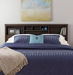 king storage bed with bookcase headboard Headboard With Shelves King