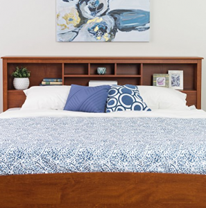 king storage bed with bookcase headboard King Headboard With Shelves