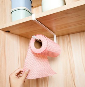 over the sink shelf with paper towel holder Kitchen Paper Towel Holder