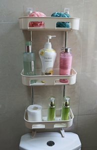 over the sink shelf with paper towel holder Over The Bathroom Sink Shelf