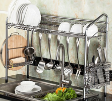 Over The Sink Shelf With Paper Towel Holder (3 Useful Organizer Racks)