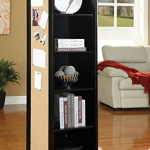 rotating shelf unit with mirror