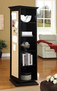 Rotating Shelf Unit With Mirror