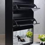 rotating shelf unit with mirror Rotating Storage Tower