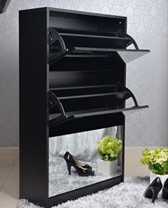 rotating shelf unit with mirror Rotating Storage Tower
