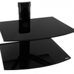 shelf for under mounted TV Black Floating Shelves for Electronics