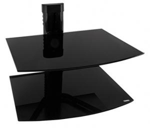 shelf for under mounted TV Black Floating Shelves for Electronics