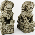 concrete foo dog statue