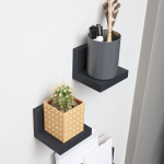 wall shelves without nails or screws